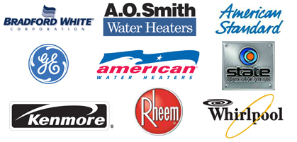 Kenmore Rheem Whirlpool State American Standard American Water Heaters Brandford White A.O. Smith Water Heater Brands Fremont