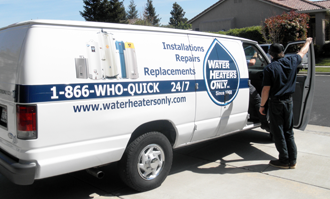 Water Heaters Only Truck Fremont About Water Heaters Only Inc.