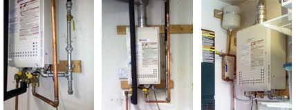 Three Examples Tankless Water Heaters Fremont