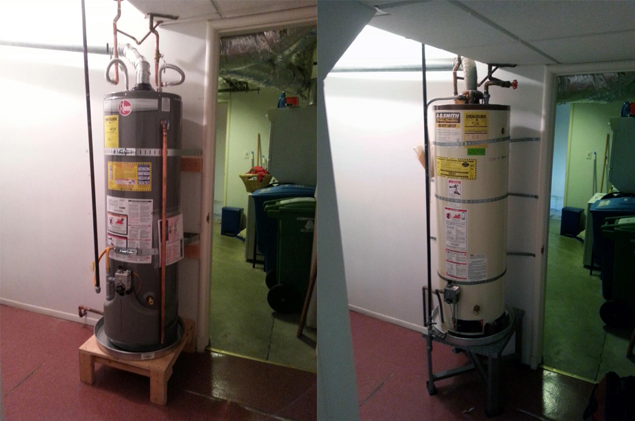 hot water heater replacement in Fremont